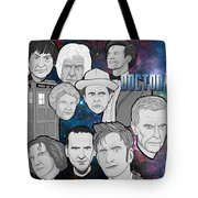 Doctor Who Collage Tote Bag by Gary Niles