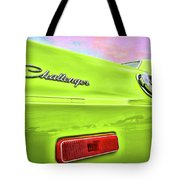 Dodge Challenger In Sublime Green Tote Bag