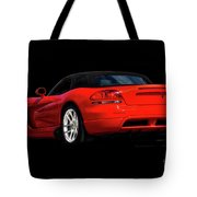 Dodge Viper 'red Tail' Roadster Tote Bag