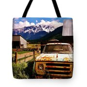 Dodging Mount Currie Tote Bag