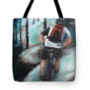 Dodging Trees Tote Bag