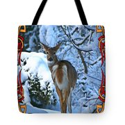 Doe In The Snow Tote Bag