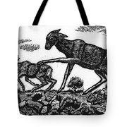 Doe Spanking Fawn Tote Bag