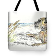 Dog By The Sea Tote Bag