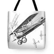 Dog Fight Tote Bag