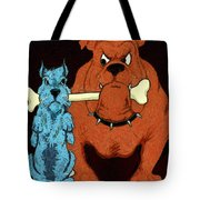 Dog Fight Stand Off Tote Bag