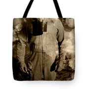 Dog Fights At Giant Heights Tote Bag