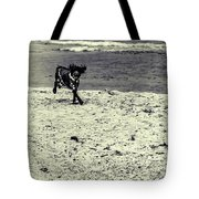 Dog Frolicking On A Beach Tote Bag