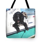 Dog Happy Birthday Card Tote Bag