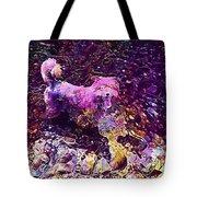 Dog Happy Nature River  Tote Bag