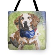 Dog In Bow Tie Tote Bag
