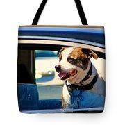 Dog In Car Tote Bag