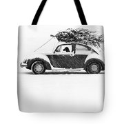 Dog In Car  Tote Bag
