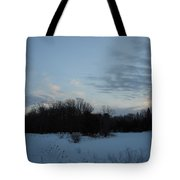 Dog On A Winter Morning Tote Bag