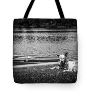 Dog On The Lake #2 Tote Bag