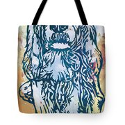 Dog Pop Etching Art Poster Tote Bag