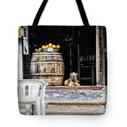 Dog Tavern With Oranges Tote Bag