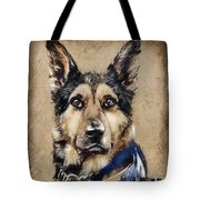 Dog Traditional Drawing Tote Bag