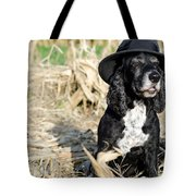 Dog With A Hat Tote Bag