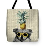 Dog With Goggles And Pineapple Tote Bag