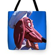Doggie Dinner Sign Tote Bag by Garry Gay