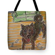 Doggy Snack Time Tote Bag