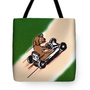 Dogs Don't Ride Go Carts Tote Bag