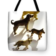 Dogs Figurines Tote Bag