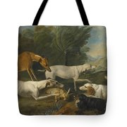 Dogs In A Landscape With Their Catch Tote Bag