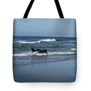 Dogs In The Surf Tote Bag