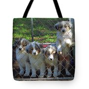 Dogs. Let Us Out #3 Tote Bag