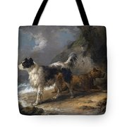 Dogs On The Coast Tote Bag