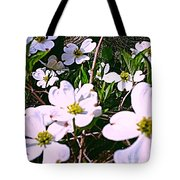 Dogwood Blossoms Pair Up Tote Bag