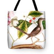 Dogwood  Cornus Florida, And Mocking Bird  Tote Bag