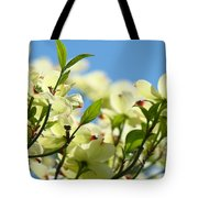 Dogwood Flowers Art Prints Canvas White Dogwood Tree Blue Sky Tote Bag