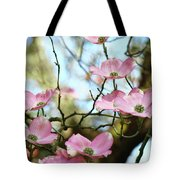 Dogwood Flowers Pink Dogwood Tree Landscape 9 Giclee Art Prints Baslee Troutman Tote Bag
