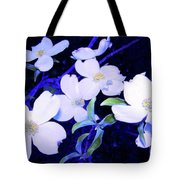 Dogwood Night Blooms Tote Bag