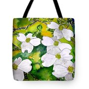 Dogwood Tree Flowers Tote Bag