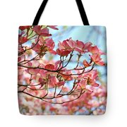 Dogwood Tree Landscape Pink Dogwood Flowers Art Tote Bag
