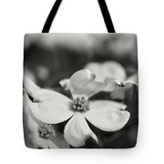 Dogwoods In Black And White Tote Bag