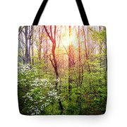 Dogwoods In The Forest Tote Bag