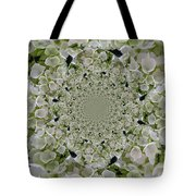 Doily Of Flowers Tote Bag