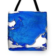 Dolphin World Map Tote Bag