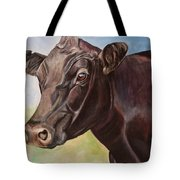 Dolly The Angus Cow Tote Bag