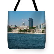 Dolmabahce Palace On The Bosphorus Tote Bag