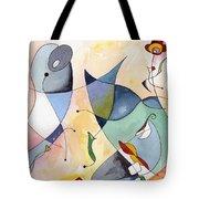Dolphin Garden Tote Bag