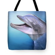 Dolphin In The Moonlight Tote Bag