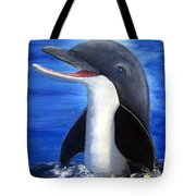 Dolphin Laughing Tote Bag