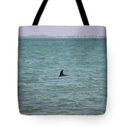 Dolphin Makes An Appearance Tote Bag