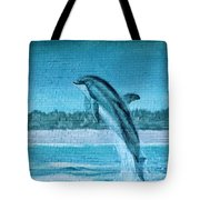 Dolphin Mural Tote Bag